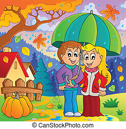 Rainy weather theme image 2 - eps10 vector illustration.