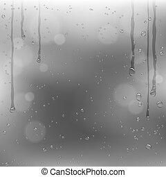 rainy window dark clouds background