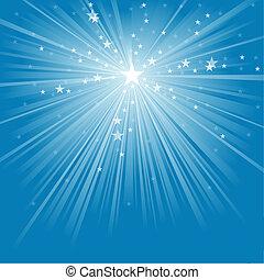 raios claros, estrelas