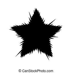 raios, estrela, ilustração, experiência., explodindo, branca, divergente