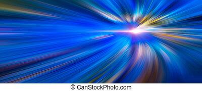 raios, fibras, 3d, azul, coloridos, grande, abstratos, ilustração, dados, túnel, color., velocidade, fundo