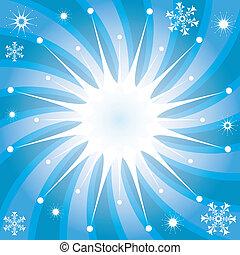 raios, snowflakes, fundo, natal
