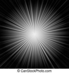 raios sol, fundo, starburst