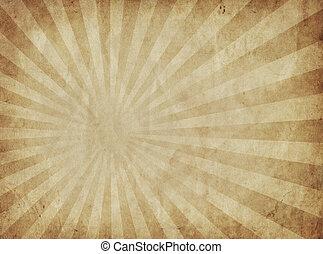 raios sol, pergaminho, papel