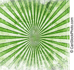 raios sol, verde, grunge
