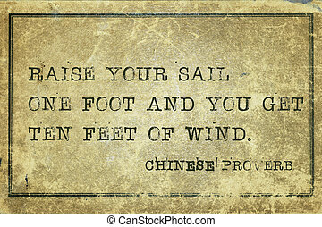 raise sail CP - Raise your sail one foot and you get ten...