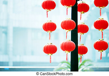 Raise the Red Lantern, Chinese traditional New Year's Day.