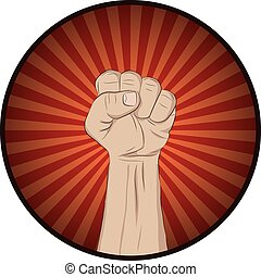 Raise your fist and yell