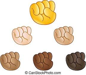 Raised fist hand emoji