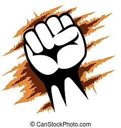 Raised Fist Poster Template Graphic Design