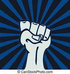 Raised Fist Revolution Concept Vector