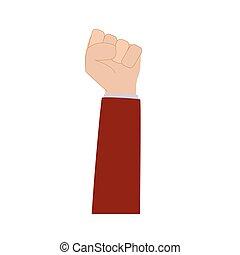 raised hand fist