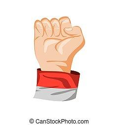 raised hand power