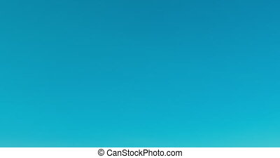 Raised hands against blue sky - People rasing hands on blue...