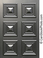 Wooden Raised Panels at Black Door