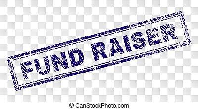 raiser, 長方形, 切手, 資金, 傷付けられる