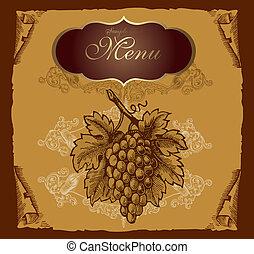raisin, étiquette