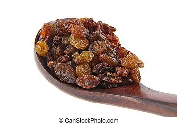raisin isolated on white background closeup