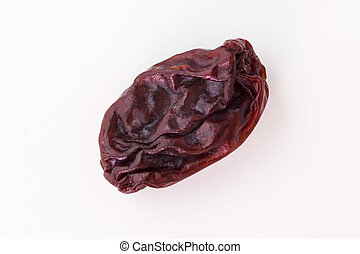 Raisin isolated on white, top view