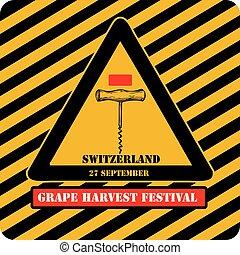 raisin, signe, industriel, moissonnez festival