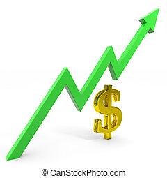 Raising dollar graph.
