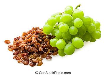 Raisins and grapes
