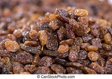 Raisins background picture (macro shot)