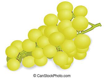 raisins blancs, tas