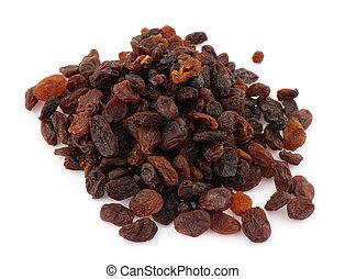 raisins on white