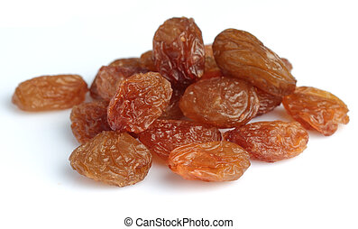 raisins secs, fond blanc