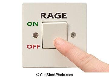 raiva, gerência, interruptor, desligado, raiva
