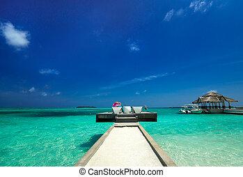 raj, ocean, wyspa, odpoczynek