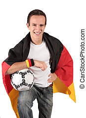 rajongó, német, futball