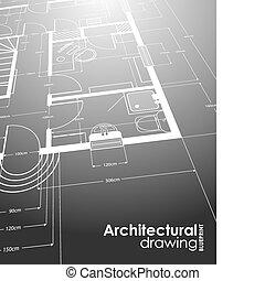 rajz, építészeti