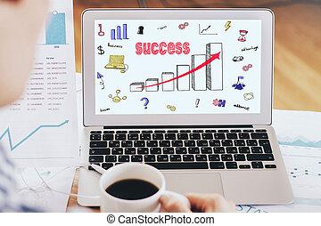 rajz, siker, diagram
