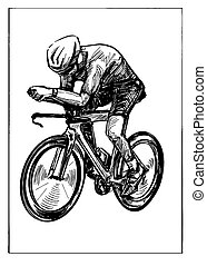 rajz, verseny, bicikli