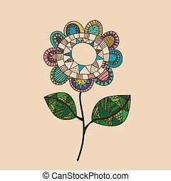rajz, virág