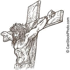 rajzol, jézus, kéz