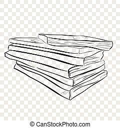 rajzol, szem, egyszintű, kazal, fehér, skicc, kéz, háttér, fekete, kilátás, háttér, hatás, könyv, áttetsző