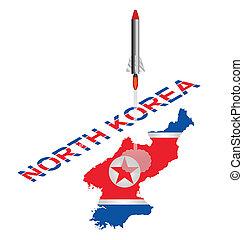rakéta, korea, észak, dob