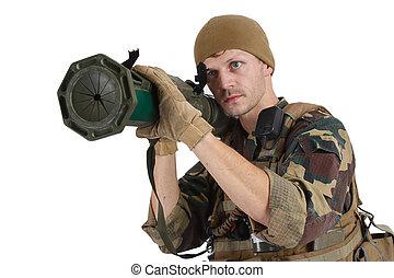 rakétavető, társaság, magán, at4, gépész, hadi