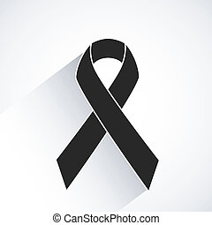 rak, wektor, świadomość, wstążka