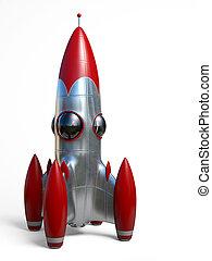 raket, arealet