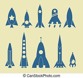 raket, ikon