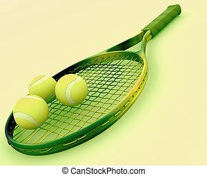 rakieta, tenis piłki