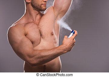 rakkniv, elektrisk, gulfilspån,  shirtless, ung, gulfilspån, stilig,  man