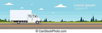 rakomány, autó, hajózás, felszabadítás teherkocsi, teherautó, út