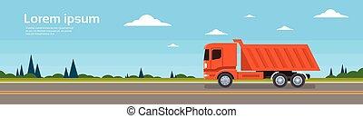rakomány, billenőszerkezet, lerak, autó, hajózás, felszabadítás teherkocsi, teherautó, út