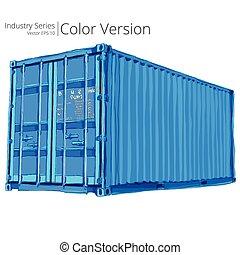 rakomány, container.