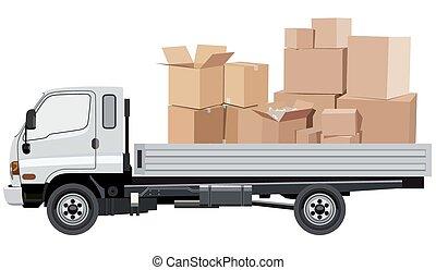 rakomány, szállítás